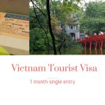 Tourist visa, 1 month single entry